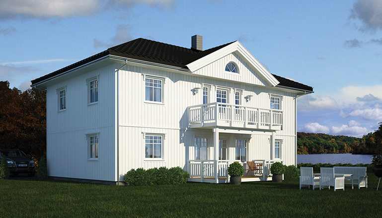 ferdighus elegante hus