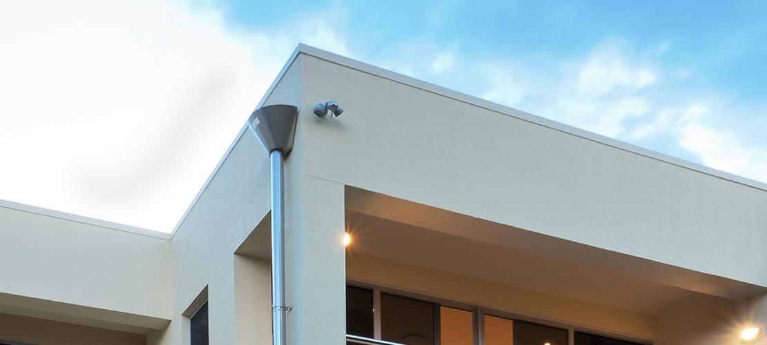 hus med flatt tak - vinkelbilde